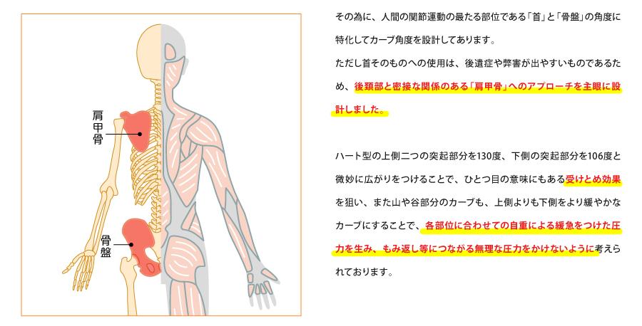 肩甲骨へのアプローチ