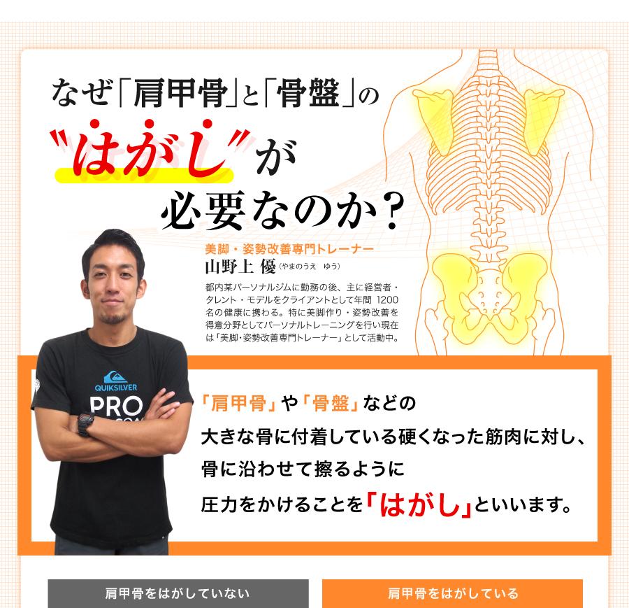 なぜ肩甲骨と骨盤のはがしが必要なのか
